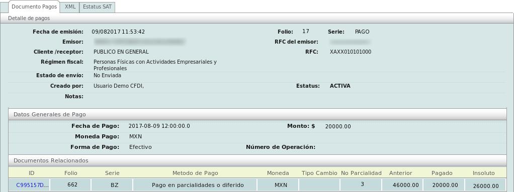 factura electronica crear un cfdi con complemento de pagos para