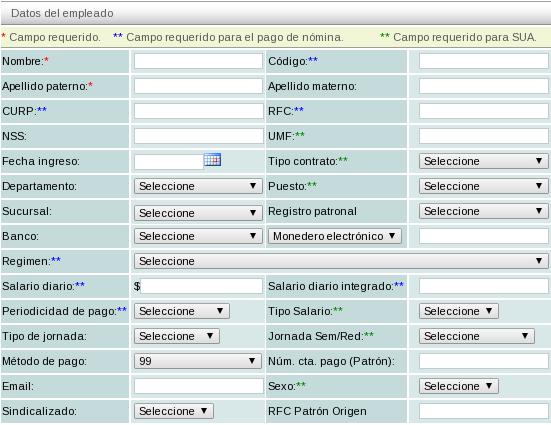 Factura electronica empleados for Ejemplo nomina trabajador