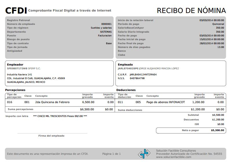 Factura Electronica Crear Recibo